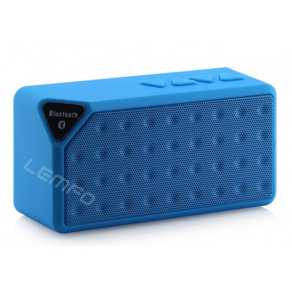 enceinte bluetooth 3en1 avec lecteur usb bleu. Black Bedroom Furniture Sets. Home Design Ideas