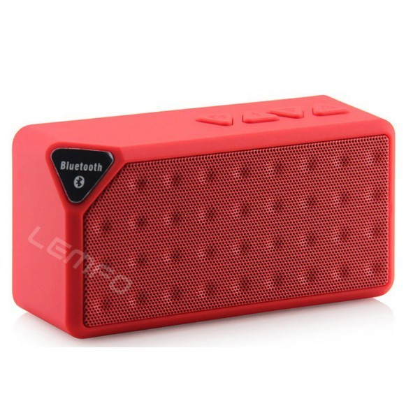 enceinte bluetooth 3en1 avec lecteur usb rouge. Black Bedroom Furniture Sets. Home Design Ideas