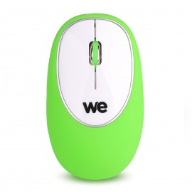We Connect Souris silicone anti-stress Vert - C42