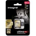 64Go Integral UltimaPro 4K Micro-SD C10 - F42