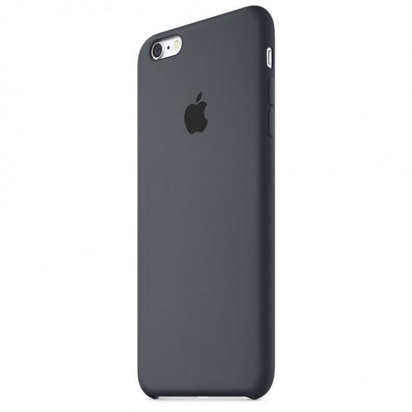 Coque Noir iPhone 6/6S Silicone logo Apple