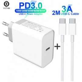 Chargeur USB TypeC - 45W - Apple/PC - C3