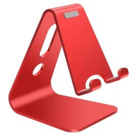 Support alu rouge de bureau pour smartphone