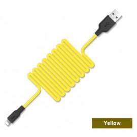 Câble Lightning Silicone HOCO Jaune - 1M