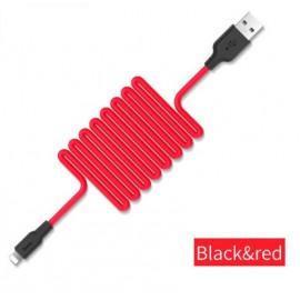 Câble Lightning Silicone HOCO Rouge - 1M