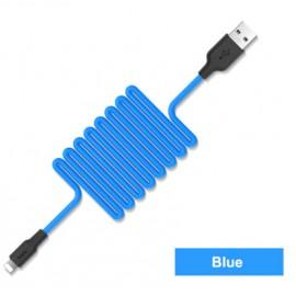 Câble Lightning Silicone HOCO Bleu - 1M