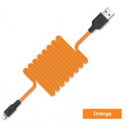 Câble Lightning Silicone HOCO Orange - 1M