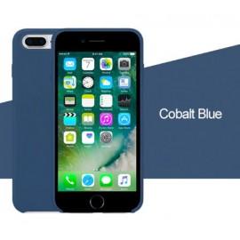 Coque iPhone 7/8 Silicone LUXE - Bleu
