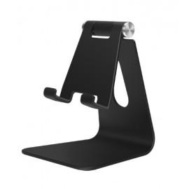 Support alu noir de bureau pour smartphone