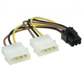 Câble alim double SATA