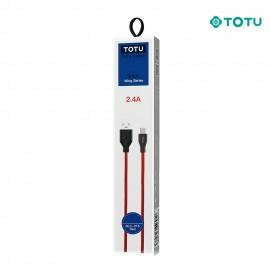 Câble USB vers Type-C 12W-2,4A 1M rouge TOTU - C90