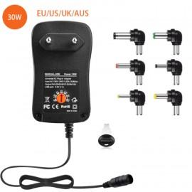 Adaptateur secteur universel 3-4.5-5-6-7.5-9-12V / 8 embouts - C70