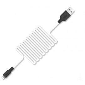 Câble Lightning Silicone HOCO Blanc - 1M