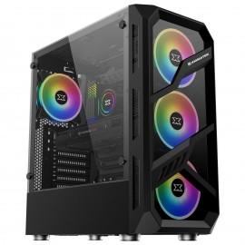 Xigmatek Lamiya RGB avec panneau vitré (Noir) - C42