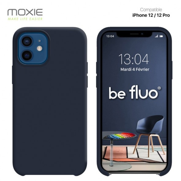 Coque iPhone 12 / 12 PRO souple carbon