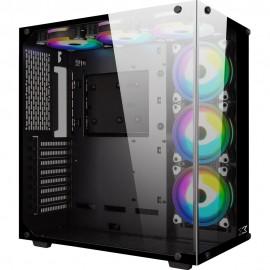 Xigmatek Aquarius Plus RGB avec panneau vitré (Noir) - C42