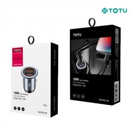 Chargeur voiture 27W 2 USB gris TOTU - C90