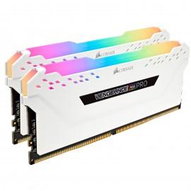 DDR4 Corsair Vengeance Pro RGB 16Go 3000Mhz C15 WHITE - F2