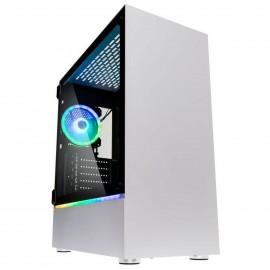 Kolink Bastion Blanc RGB avec panneau vitré - C42