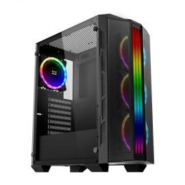 Xigmatek Trident RGB avec panneau vitré (Noir) - C42
