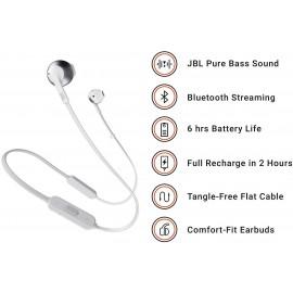 Ecouteur Bluetooth JBL TUNE 205BT (Blanc) - C44