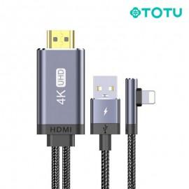 Câble Lightning vers HDMI 5V gris 2M TOTU (BL-006) - C90