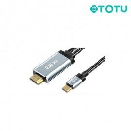 Câble Type-C vers HDMI 5V gris 2M TOTU (BT-011) - C90