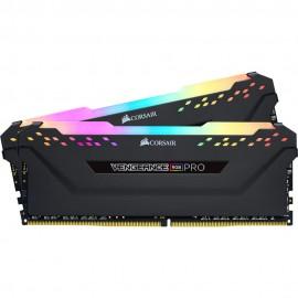 DDR4 Corsair Vengeance RGB PRO Noir - 16 Go (2 x 8 Go) 3200 MHz - CAS 16 - F2