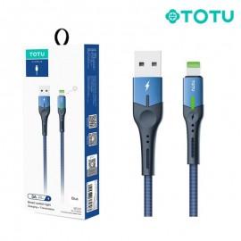 Câble USB vers Lightning 3A 1,20M bleu TOTU (BL-013) - C90