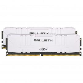 DDR4 Crucial Ballistix White - 16Go (2x8Go) 3200MHz - C16 - F3