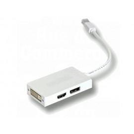 Adaptateur Mini DisplayPort vers HDMI/DVI/Displayport