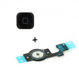 Bouton Home Noir + Nappe iPhone 5C - C61