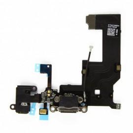 Nappe Dock de charge + Jack iPhone 5S Noir - C61