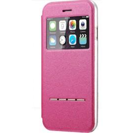 Etui iPhone 6/6S Cuir Rose / C70