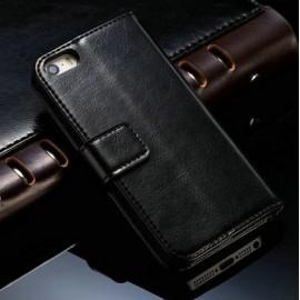 Etui iPhone 5/5S Cuir Noir / C70