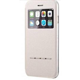 Etui iPhone 6/6S Cuir Blanc / C70