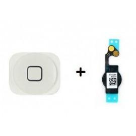 Bouton Home Noir + Nappe iPhone 5C - C61