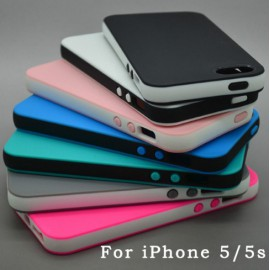Coque iPhone 5/5S Caoutchouc / Divers couleurs / C70
