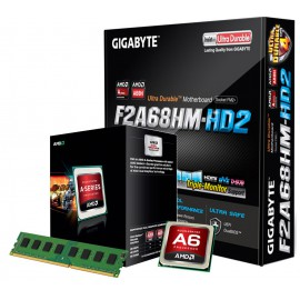 Kit Upgrad : AMD A8 7600 + 8Go + F2A68HD-DS2